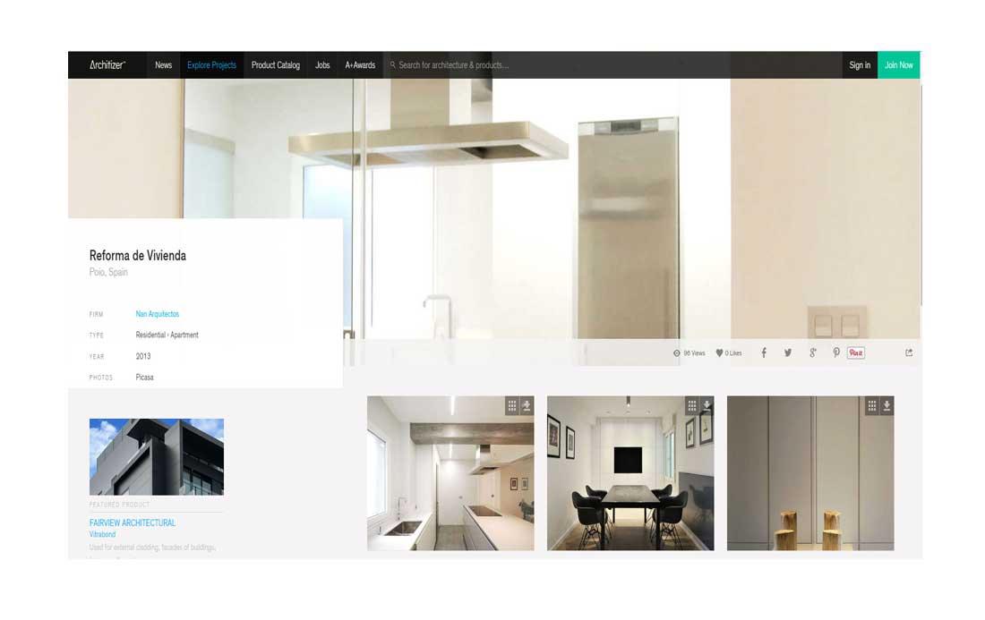 madrid nanarquitectos nancontract interiorismo diseño reformas pontevedra architizer apartamento poio