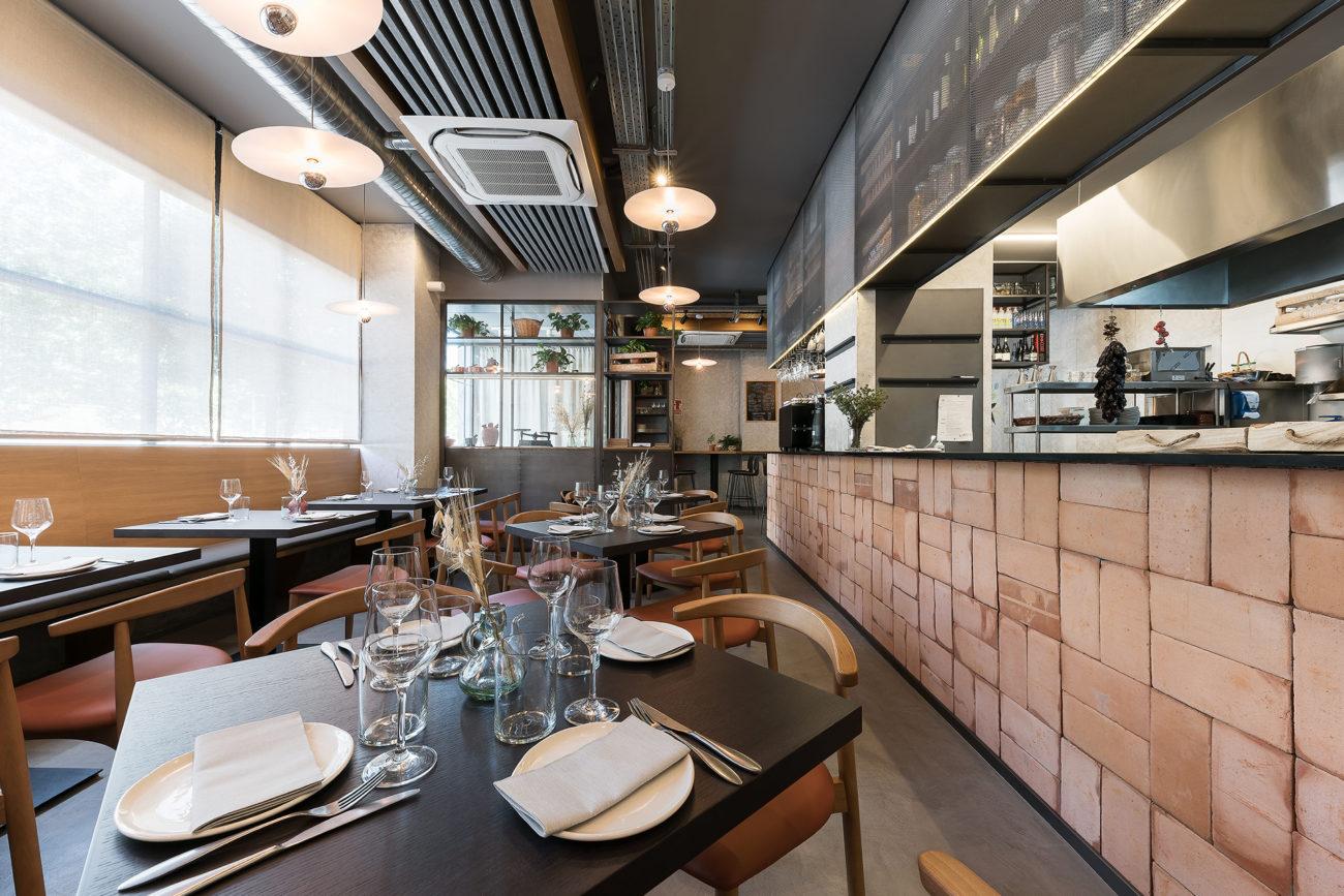 Restaurante nantes en madrid nan arquitectos for Restaurante escuela de arquitectos madrid